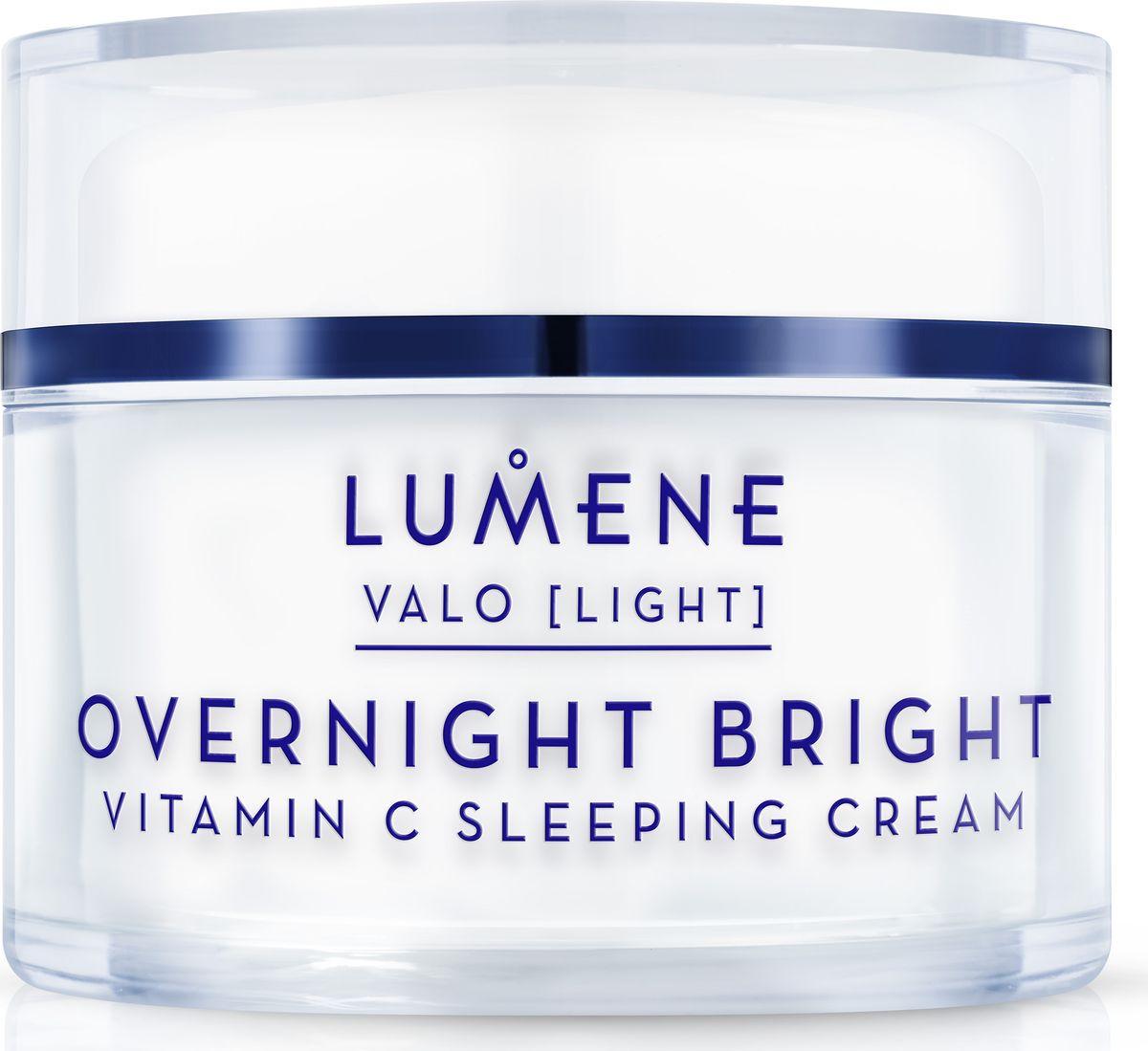 Lumene Valo Восстанавливающий крем-сон Vitamin C, 50 мл lumene valo придающий сияние дневной крем vitamin c 50 мл
