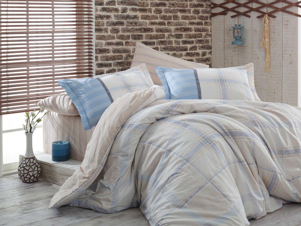 """Комплект белья Hobby Home Collection """"Carmela"""", 1,5-спальный, наволочки 50x70, 70x70, цвет: бежевый"""