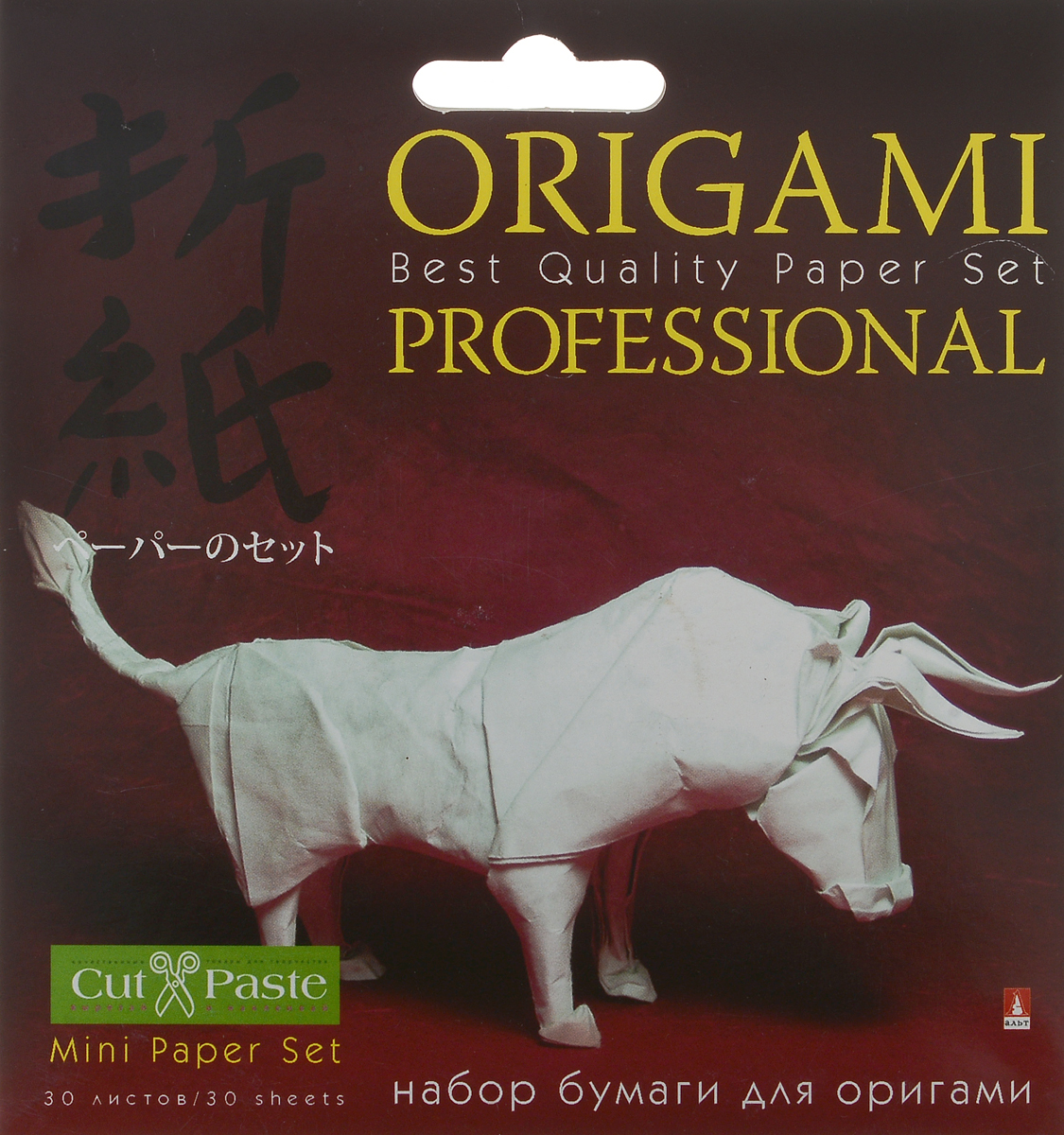 Альт Набор цветной бумаги для оригами Бык 30 листов