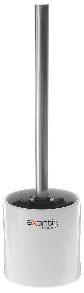Ершик для унитаза Axentia Bianco, с подставкой, высота 35 см ершик для унитаза idea лотос деко барокко с подставкой высота 36 см