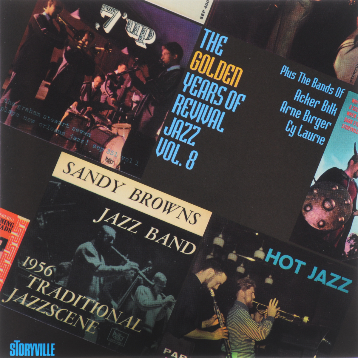 Papa Bue's Viking Jazz Band,Sandy Brown's Jazz Band,The Graham Stewart Seven,Акер Билк,His Paramount Jazz Band,Arne Birger's Jazzsjak,Cy Laurie's New Orleans Septet The Golden Years Of Revival Jazz. Vol.8 graham stewart the history of the times the murdoch years