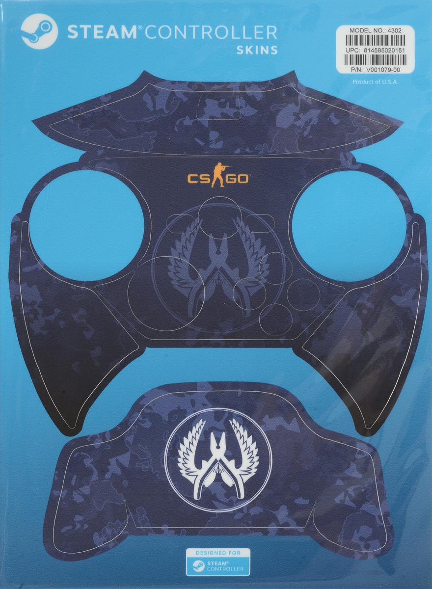 лучшая цена Valve CS:GO, Blue Camo комплект накладок для Steam Controller