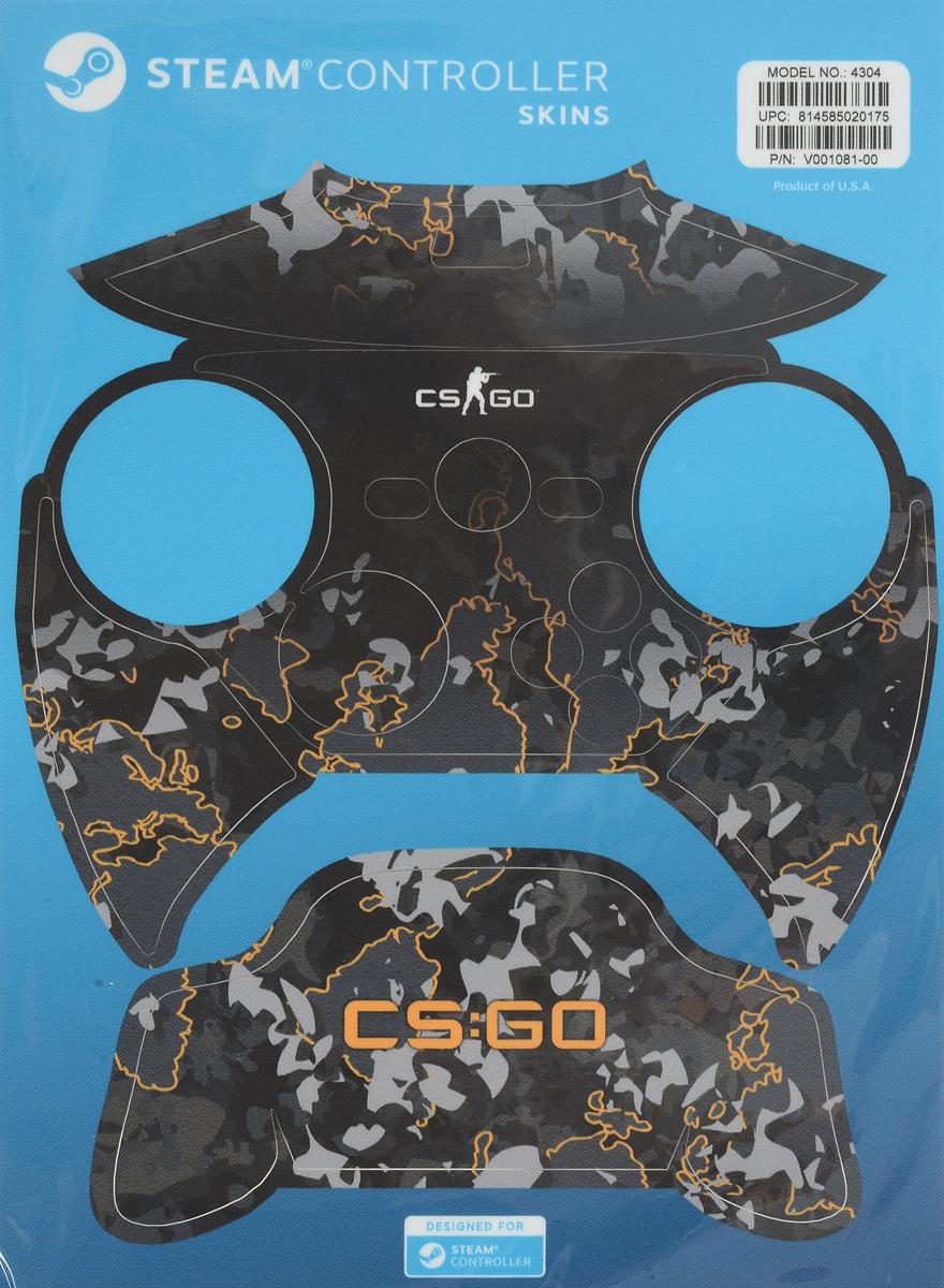 лучшая цена Valve CS:GO, Grey Camo комплект накладок для Steam Controller