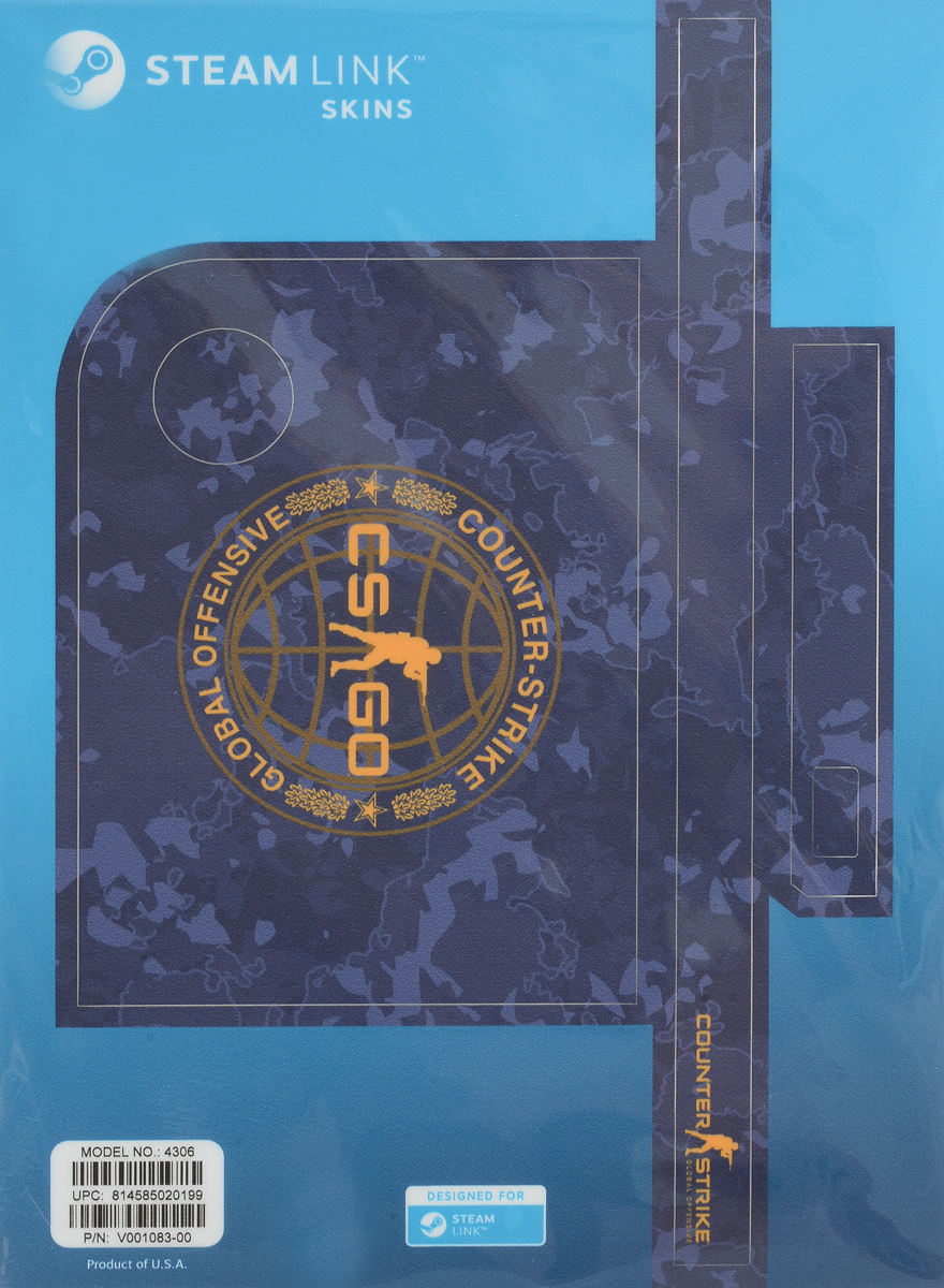 лучшая цена Valve CS:GO, Blue Camo комплект накладок для Steam Link