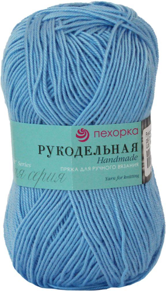 Пряжа для вязания Пехорка Рукодельная, цвет: голубой (05), 175 м, 50 г, 5 шт пряжа для вязания пехорка рукодельная цвет сирень 22 175 м 50 г 5 шт