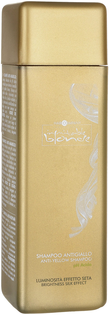 Шампунь для волос Hair Company Professional Inimitable Blonde Anti-Yellow Shampoo / Анти-желтый, 250 мл маска для волос hair company professional hair company professional mp002xw1f8ij
