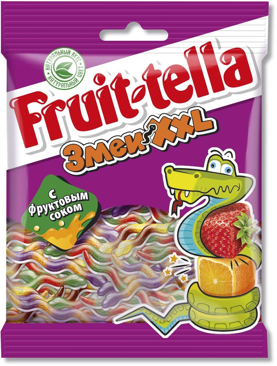 Fruittella Змеи XXL жевательный мармелад, 70 г победа вкуса шмелькино брюшко микс жевательный мармелад 250 г