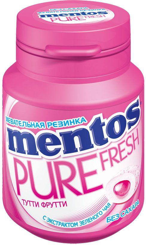 Ментос Pure Fresh Tutti-Frutti жевательная резинка, 54 г mentos pure fresh mint жевательная резинка 100 г
