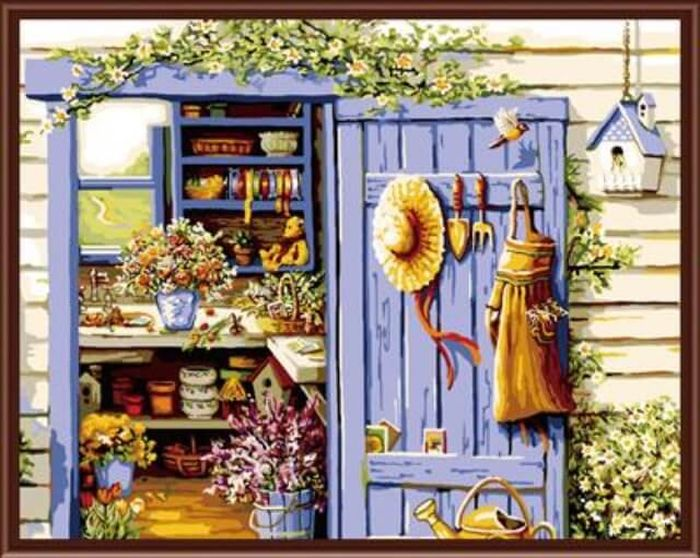 Набор для рисования по номерам Цветной Дом садовода, 40 x 50 смGX6117Набор для рисования по номерам Цветной поможет создать красивую картину. Подходит новичкам, любителям и даже тем, кто совершенно не умеет рисовать. С помощью такого набора вы можете стать настоящим художником и создателем прекрасных картин. Вы получите истинное удовольствие от погружения в процесс творчества, а созданные своими руками картины, украсят интерьер вашего дома или станут прекрасным подарком. Техника раскрашивания на холсте по номерам дает возможность легко рисовать даже сложные сюжеты. Прекрасно развивает художественный вкус, аккуратность и внимание. Каждая краска в наборе имеет свой номер, соответствующий номеру области на холсте. Нужно только аккуратно нанести необходимую краску на отмеченный для нее участок. Таким образом, шаг за шагом у вас получится великолепная картина. В набор входит: - подготовленный загрунтованный холст, натянутый на деревянный подрамник;- акриловые краски; - кисти для рисования; - крепежные петли для подвешивания картины; - контрольная схема рисунка. УВАЖАЕМЫЕ КЛИЕНТЫ! Обращаем ваше внимание на тот факт, что рамка в комплект не входит, а служит для визуального восприятия товара.