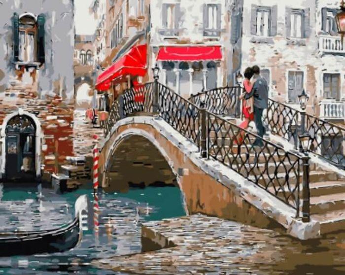 Набор для рисования по номерам Цветной Венецианский мостик, 40 x 50 см