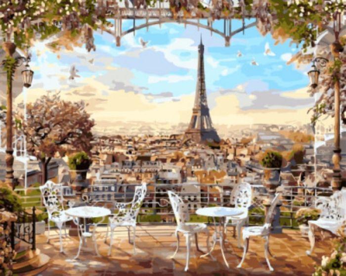 Набор для рисования по номерам Цветной Парижская терраса, 40 x 50 см