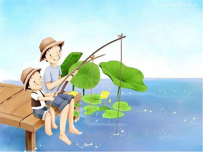 """Набор для рисования по номерам Цветной """"Друзья на рыбалке"""", 20 x 30 см"""