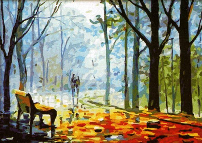 """Набор для рисования по номерам Цветной """"Осень"""", 40 x 50 см. MG041"""