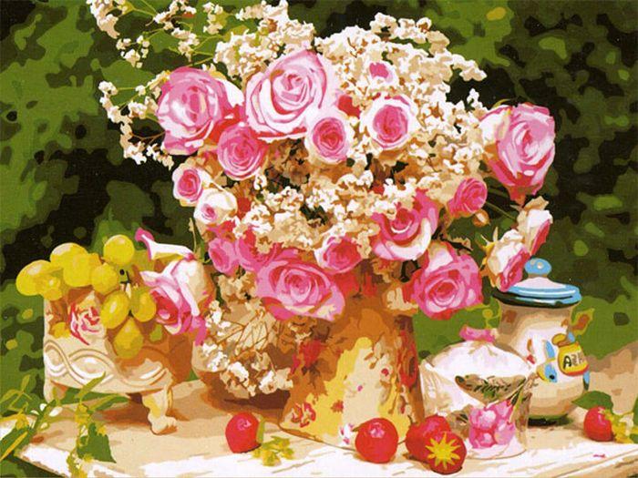 """Набор для рисования по номерам Цветной """"В розовом цвете"""", 50 x 65 см"""