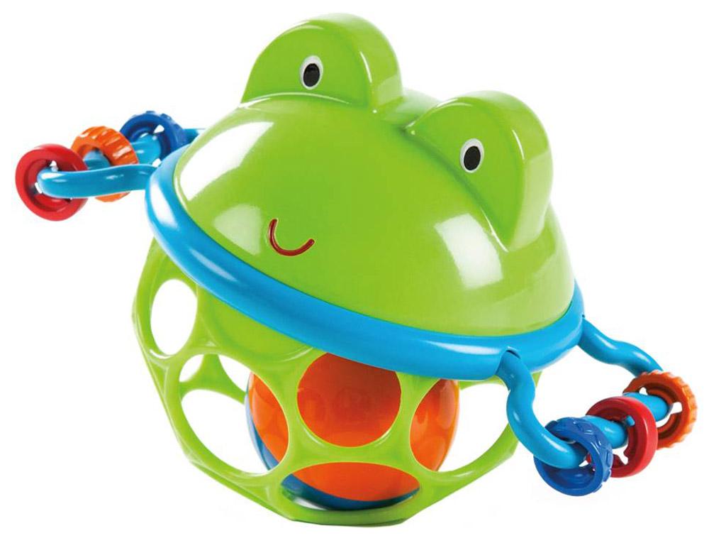 Oball Развивающая игрушка-мяч Лягушонок oball развивающая игрушка twist o round
