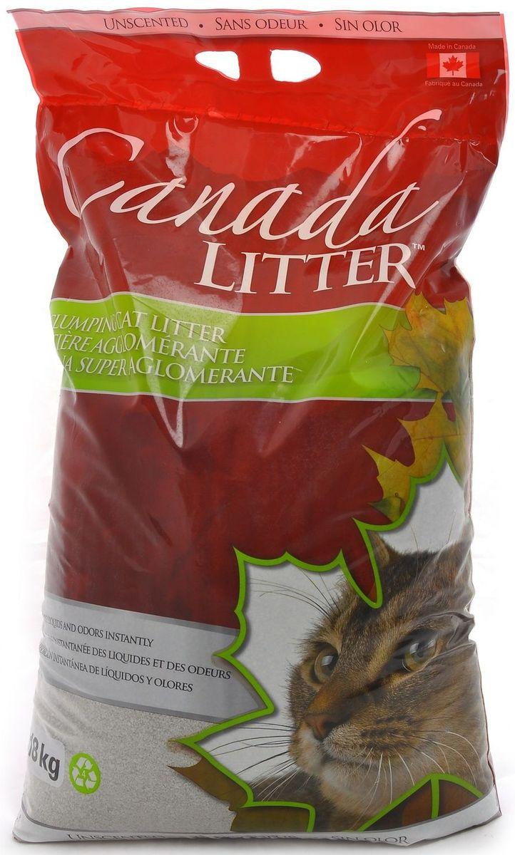 Наполнитель для кошачьих туалетов Canada Litter Запах на замке, комкующийся, без запаха, 18 кг наполнитель для кошачьих туалетов canada litter запах на замке комкующийся с ароматом детской присыпки 6 кг
