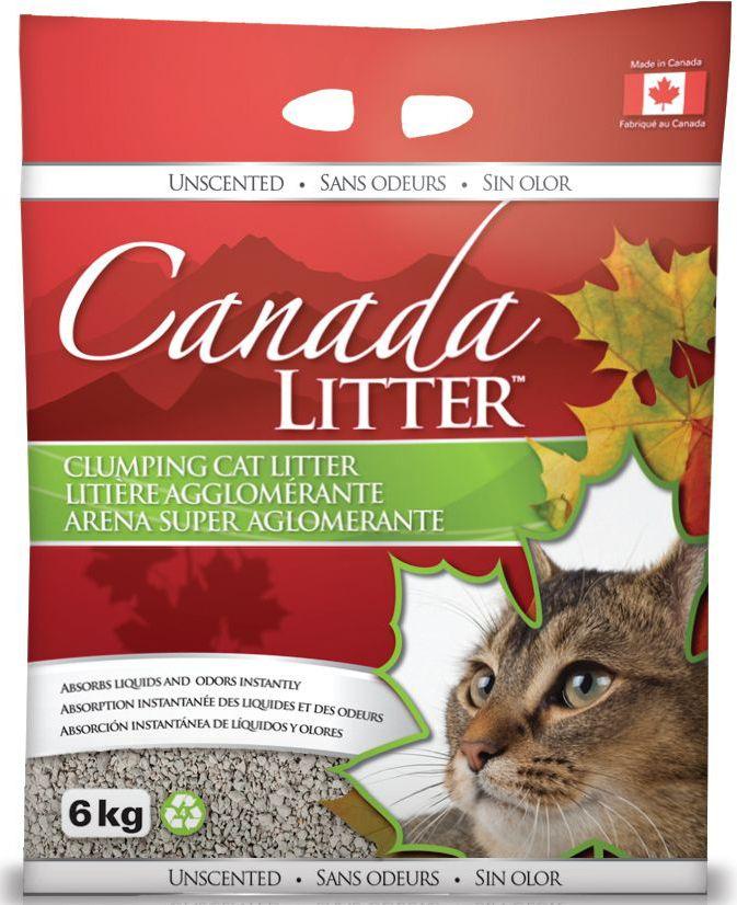 Наполнитель для кошачьих туалетов Canada Litter Запах на Замке, комкующийся, с ароматом детской присыпки, 6 кг