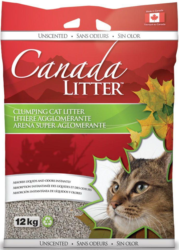 Наполнитель для кошачьих туалетов Canada Litter Запах на замке, комкующийся, с ароматом детской присыпки, 12 кг тетрадь на кольцах таксы со сменным блоком