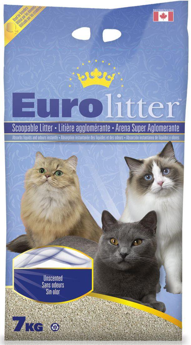 Наполнитель для кошачьих туалетов Eurolitter Контроль запаха, комкующийся, без пыли, с ароматом детской присыпки, 7 кг наполнитель для кошачьих туалетов canada litter запах на замке комкующийся с ароматом детской присыпки 6 кг