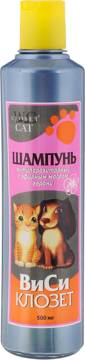 """Шампунь для кошек и собак """"ВиСи Клозет"""", антипаразитарный, с эфирным маслом герани, 500 мл"""