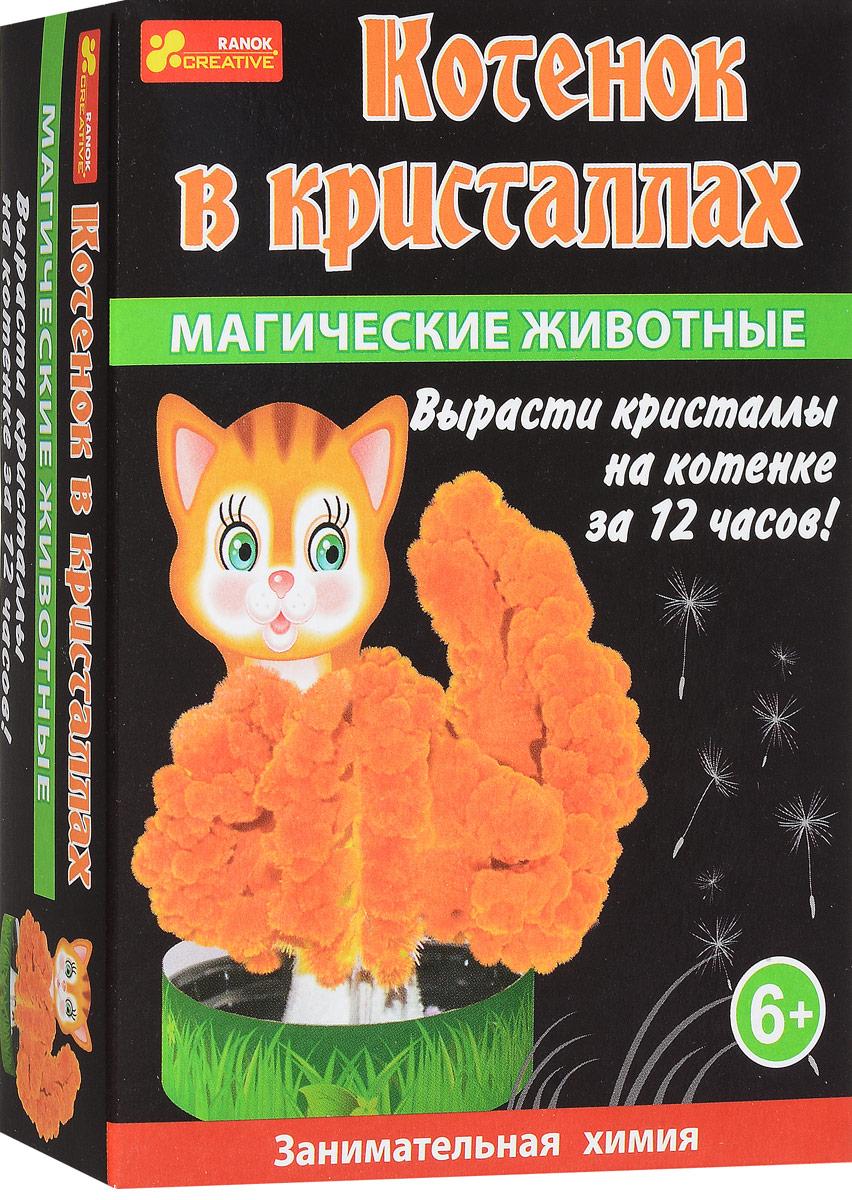 Ranok Набор для опытов Котик в кристаллах набор для выращивания ранок твоя фоторамка в кристаллах