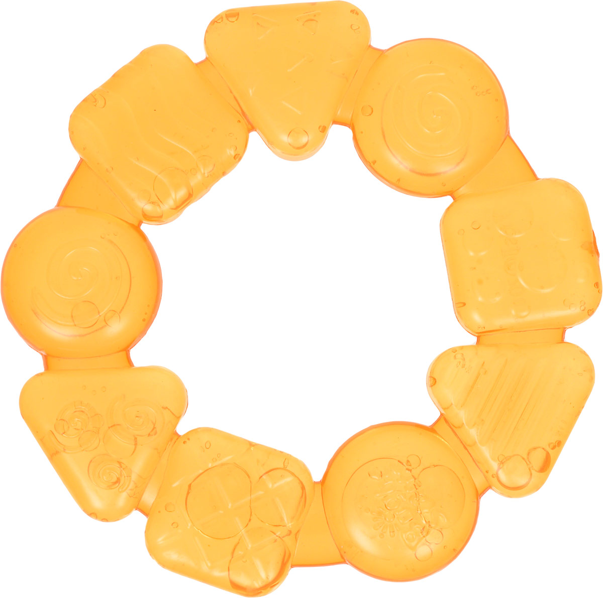 Bright Starts Прорезыватель Карамельный круг цвет желтый игрушка прорезыватель bright starts гусеничка оранжевая