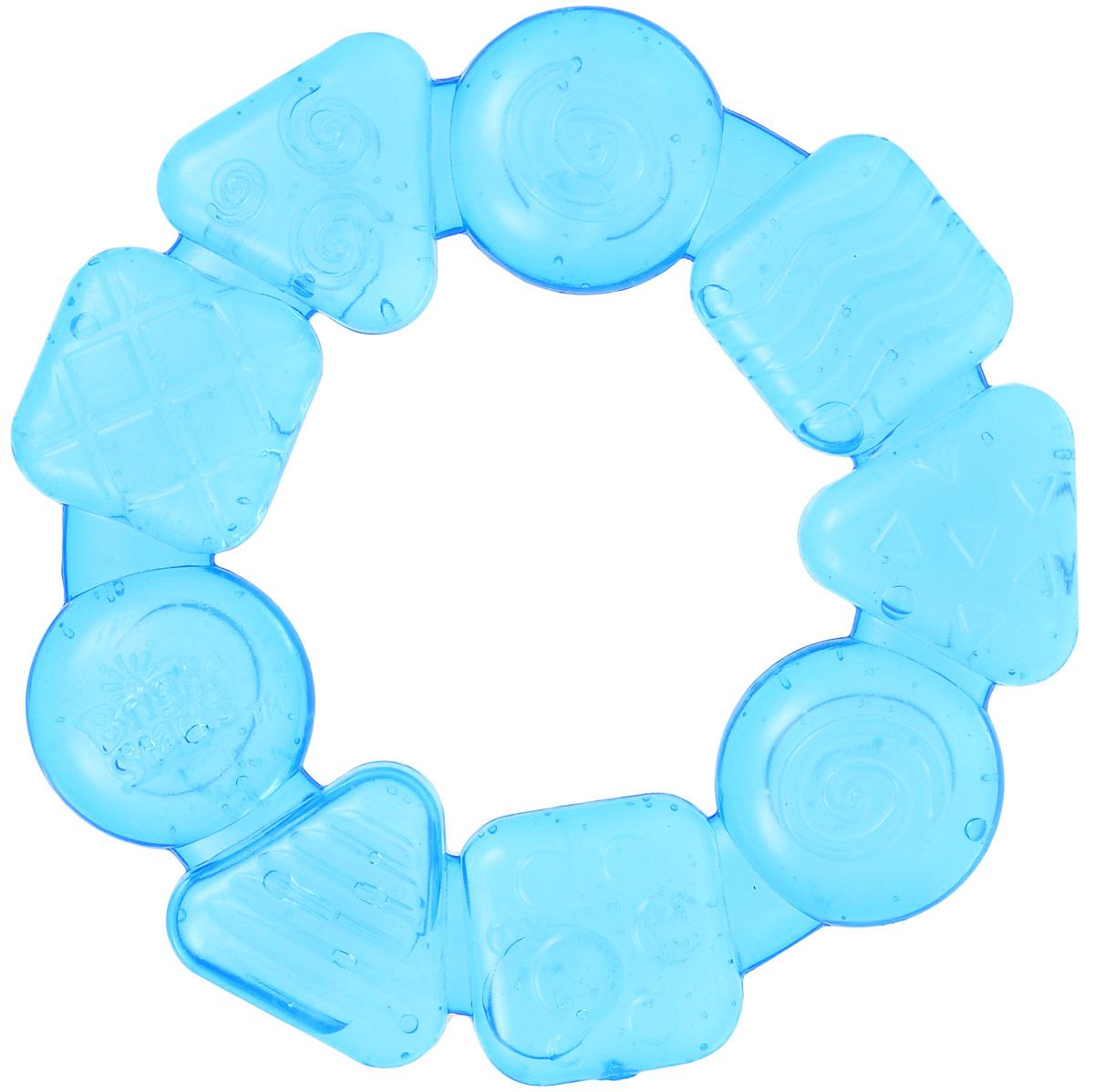 Bright Starts Прорезыватель Карамельный круг цвет синий игрушка прорезыватель bright starts гусеничка оранжевая