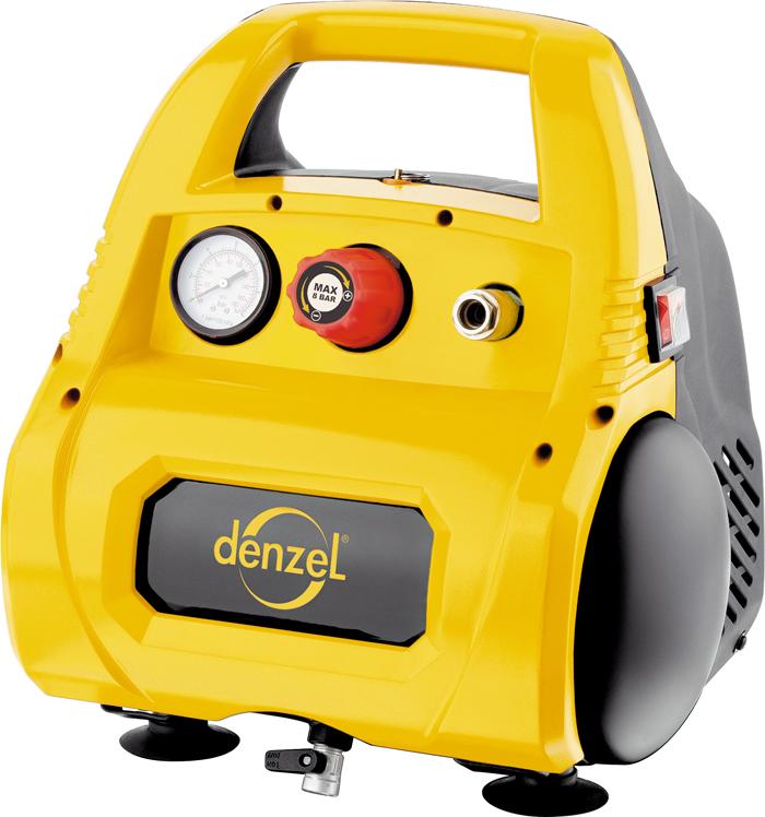 Автомобильный компрессор Denzel, воздушный, безмасляный РС 1/6-180, 1,1 кВт, 180 л/мин, 6 л компрессор denzel рс 1 6 180 1100вт 180л мин 6л