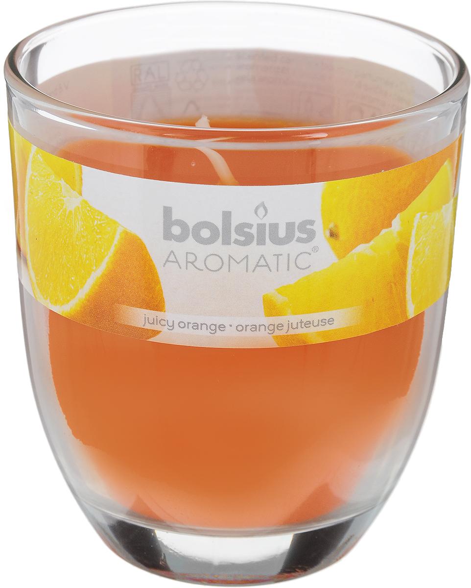 "Свеча ароматическая Bolsius ""Апельсин"", 7 х 7 х 8 см"