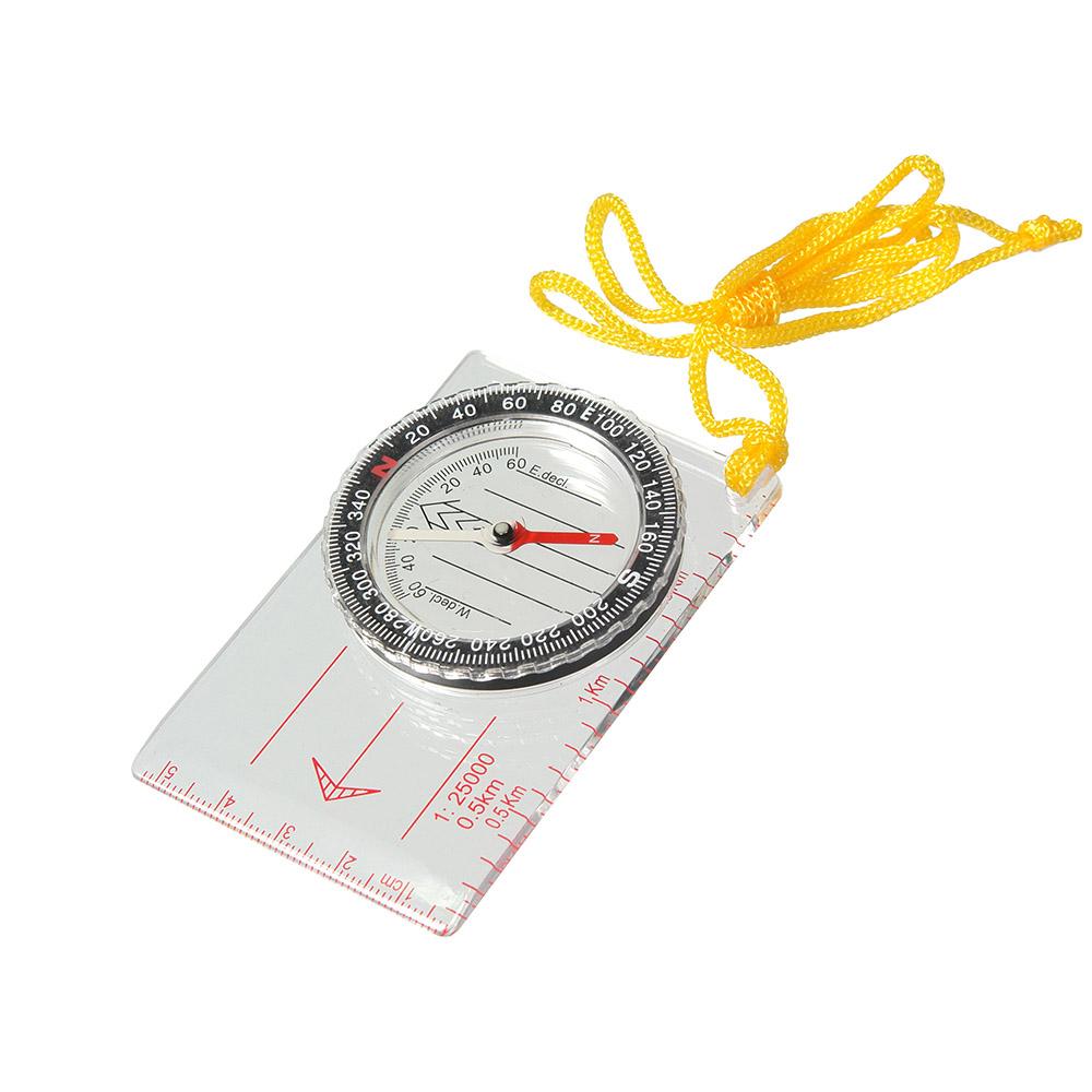 Компас Veber, цвет: белый, DC40-111143Компас спортивный Veber состоит из основания (планшета) с линейкой для часто используемых масштабов карт 1:25000 (0.5 km), специальные направляющие красные параллельные линии, используемые для движения по азимуту. На планшете укреплена вращающаяся колба с компасом. Внутри капсулы находится магнитная стрелка, на дне капсулы параллельные линии для ориентирования компаса по линиям магнитного меридиана и индексы S, N, W, E для правильной ориентации компаса относительно северного направления. Сверху капсулы находится шкала азимута. Характеристики:Цена деления шкалы азимута 2.Длительность успокоения магнитной стрелки не более 5 с. Диапазон рабочих температур: от -20С до + 30С.Габаритные размеры: 55 х 83 х 10 мм.Вес: 31 г. Рекомендуем!