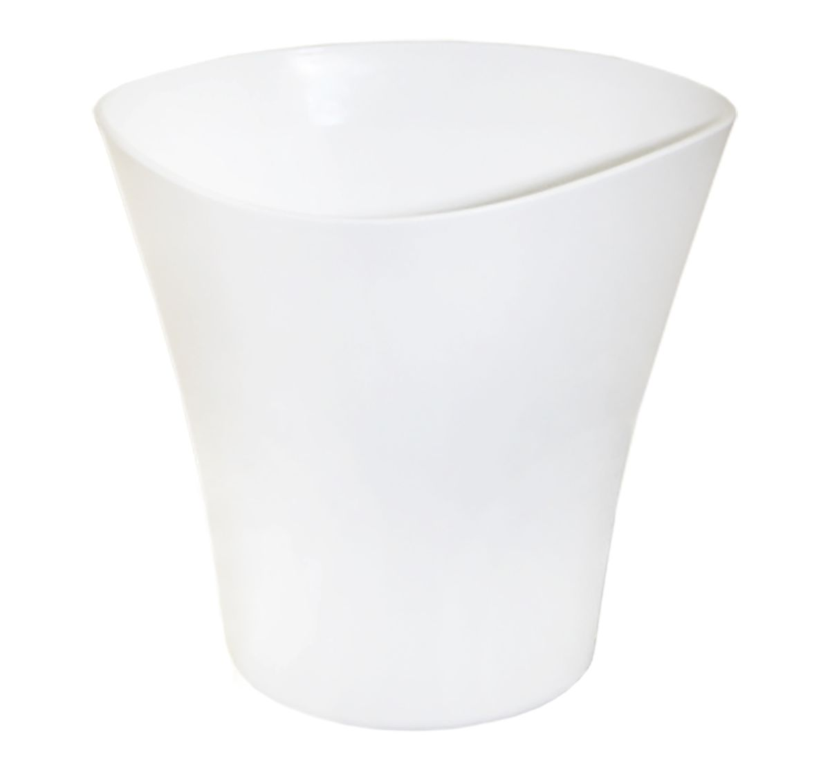 Кашпо JetPlast Волна, цвет: белый, 1,5 л кашпо jetplast альфа с креплением цвет кремовый 1 л