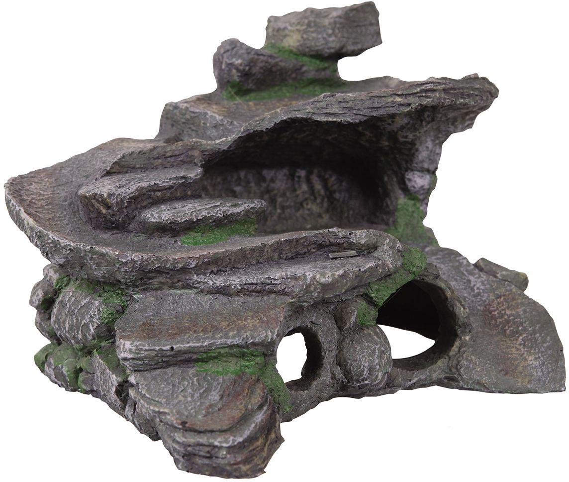 Декорация для аквариума Dezzie Остров, для черепах, 29 х 25 х 20 см декорация для аквариума dezzie руины лестница 16 5 х 7 8 х 8 5 см