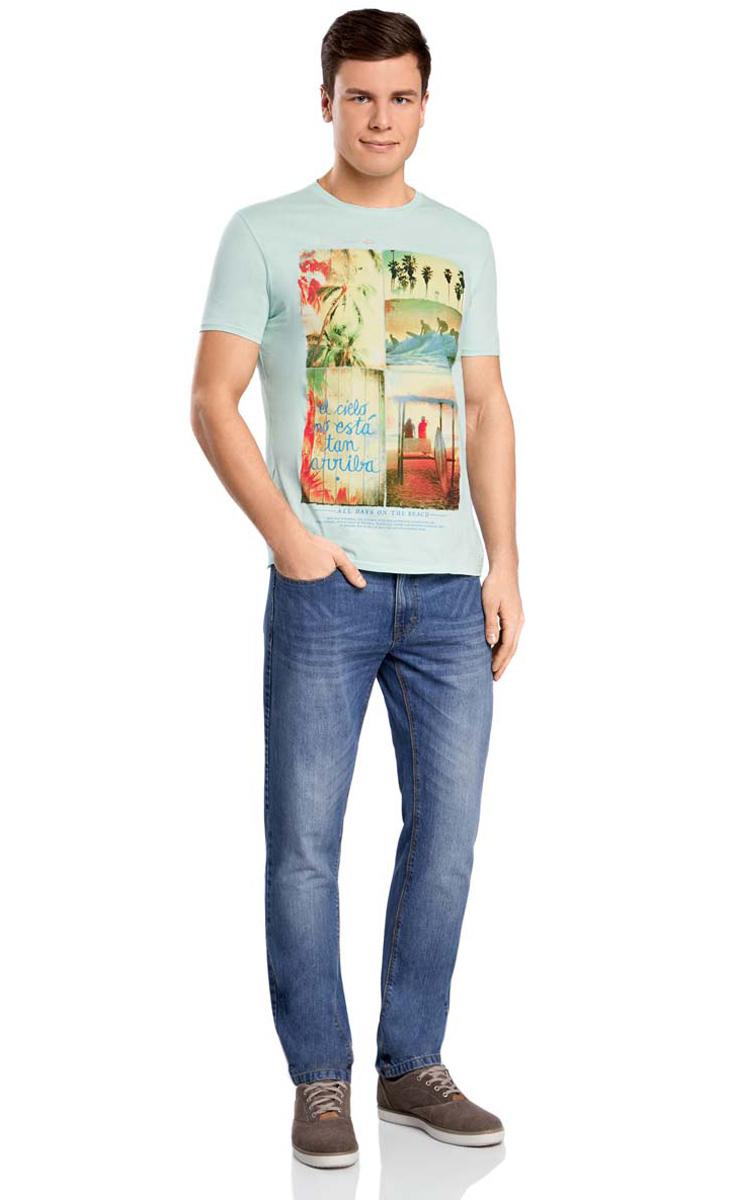 Футболка oodji alpint mountain мужская быстросохнущая футболка с короткими рукавами летняя и весенняя