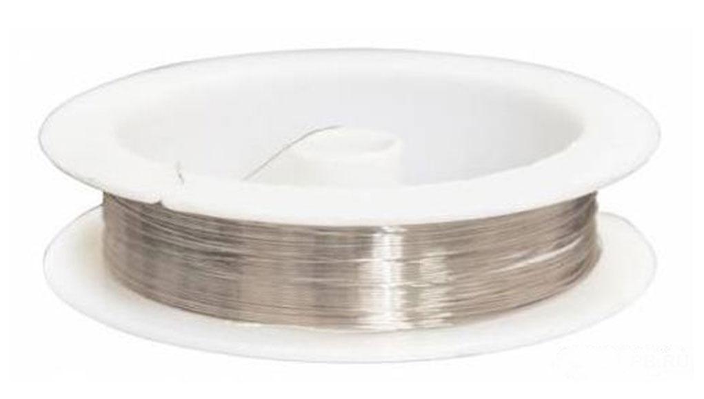 Проволока для рукоделия Астра, цвет: серебристый, 0,3 мм х 10 м, 10 шт. набор мини инструментов для рукоделия астра 9 шт