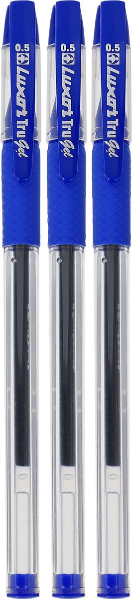 Luxor Набор гелевых ручек Tru Gel цвет синий 3 шт набор гелевых ручек xiaomi alpha letter gel pen 4шт red