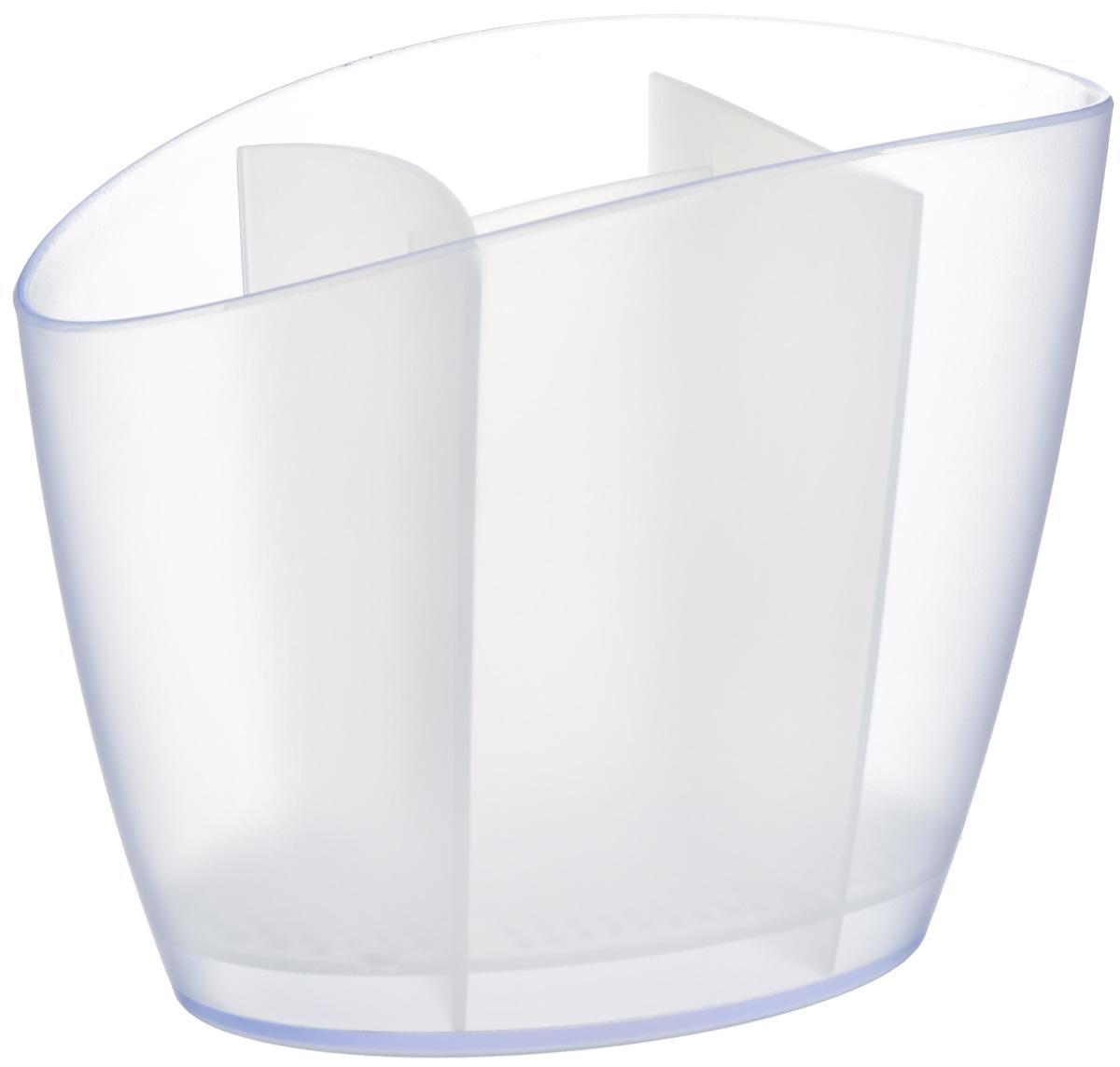 "Сушилка для столовых приборов Tescoma ""Clean Kit"", цвет: белый, 19,5 х 11 х 15,5 см"