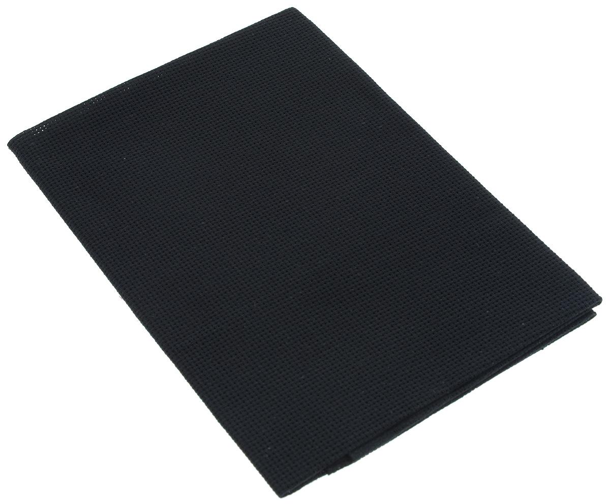 Канва для вышивания Астра Aida 16, цвет: черный, 50 х 50 см aida 16 594