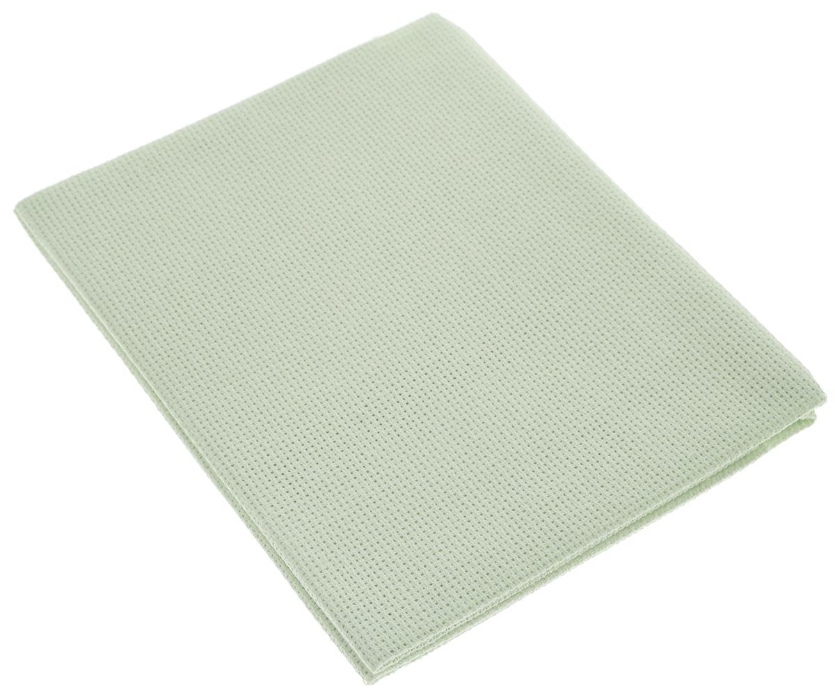 Канва для вышивания Астра Aida 16, цвет: салатовый, 50 х 50 см aida 16 594