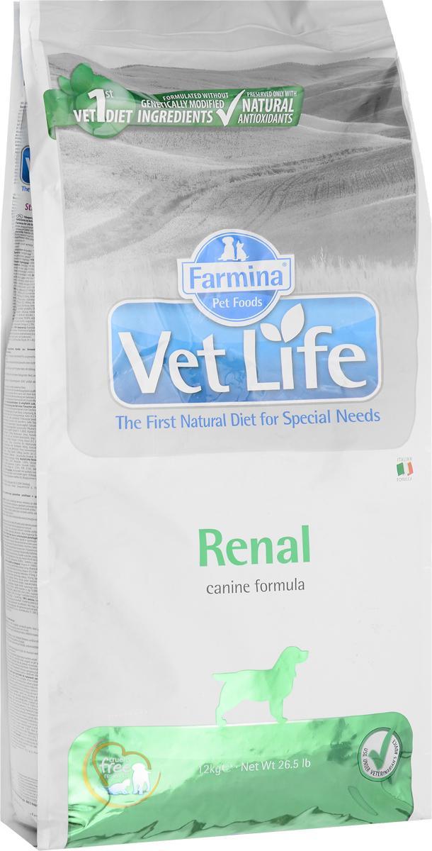 Корм сухой Farmina Vet Life для собак, диетический, для поддержания функции почек, в случаях почечной недостаточности, 12 кг корм сухой farmina vet life для кошек для поддержания функции почек при почечной недостаточности диетический 400 г