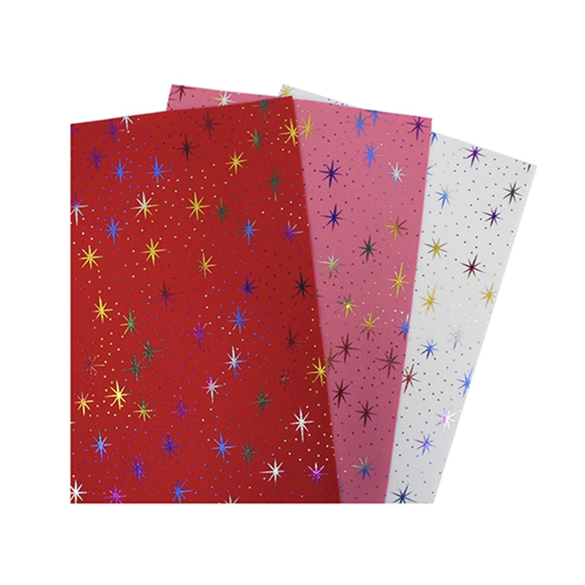 Фетр листовой декоративный Астра Звезды, 20 х 30 см, 3 шт фетр листовой декоративный астра божьи коровки 20 х 30 см 3 шт