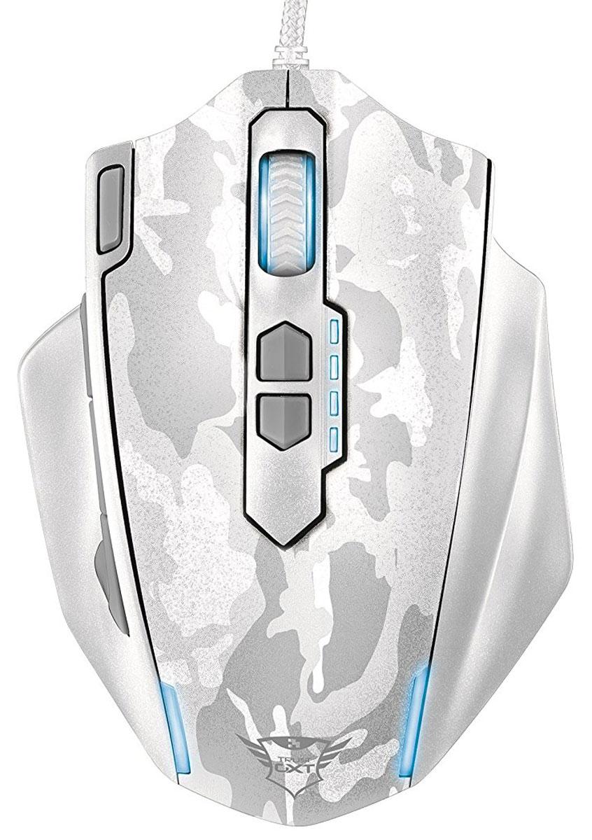 Trust GXT 155, White игровая мышь