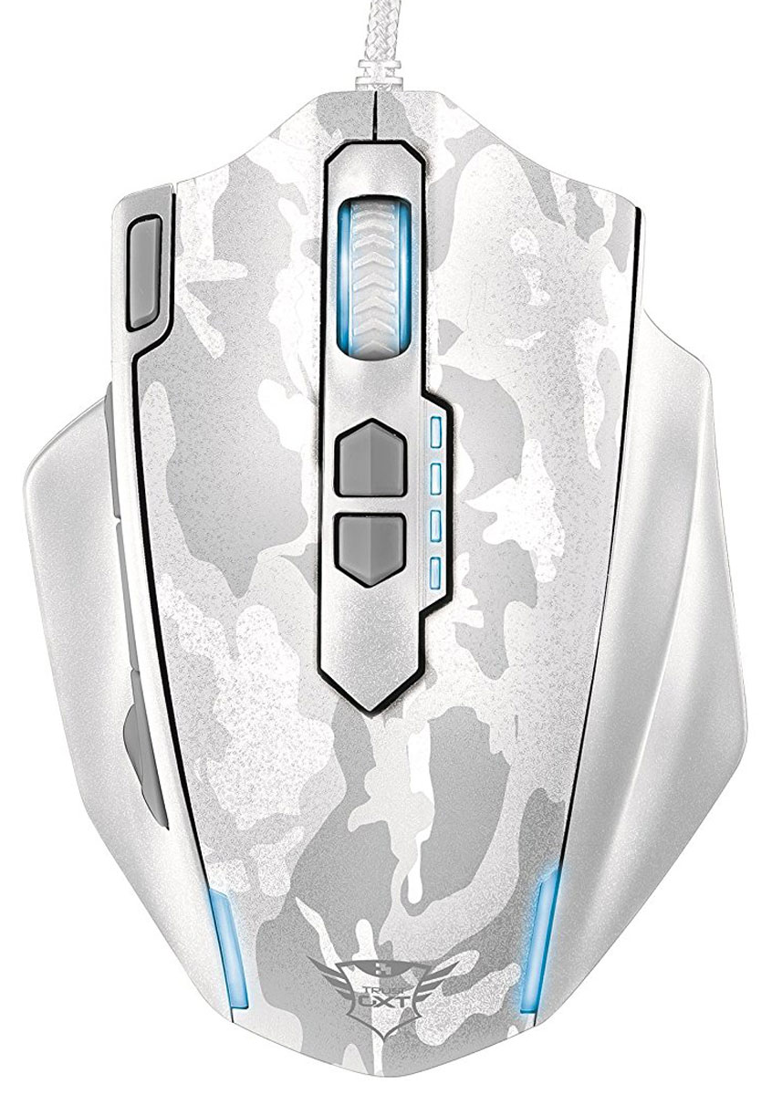 лучшая цена Trust GXT 155, White игровая мышь