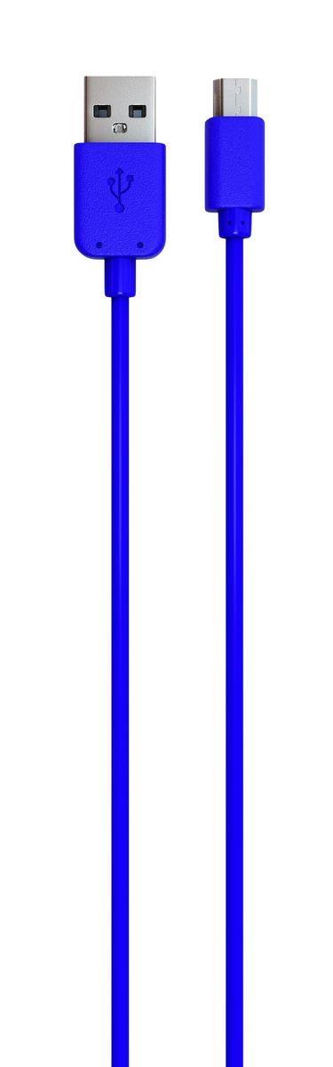 Red Line кабель USB-microUSB, Blue (1 м)