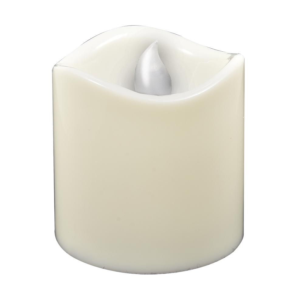 Свеча светодиодная Vegas Классика, 7,5 х 7,5 см, свет: янтарный. 55050 свеча светодиодная vegas классика 3 8 х 4 см свет янтарный 2 шт 55047