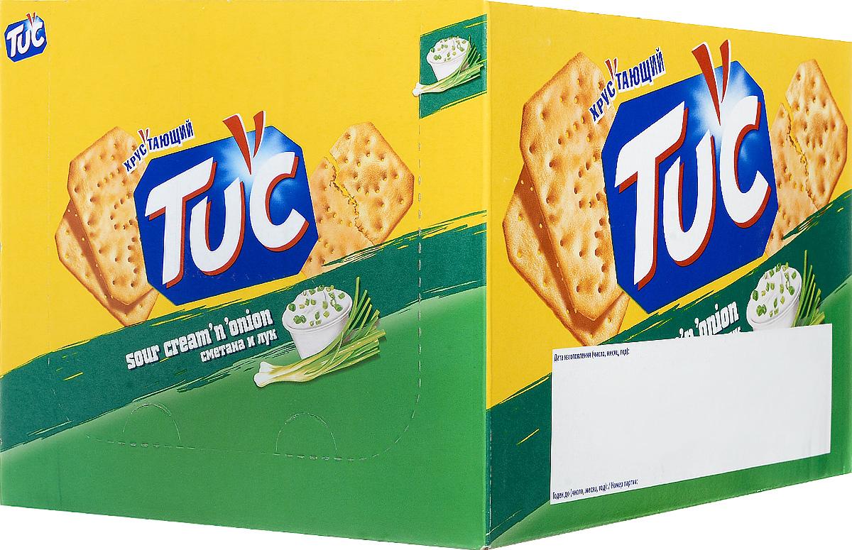 Tuc Крекер со вкусом сметаны и лука, 24 упаковки по 21 г цена