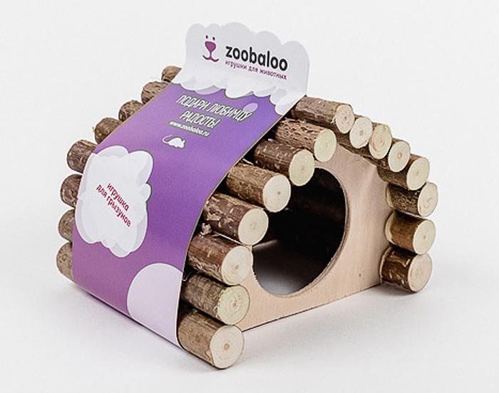 Домик для грызунов Zoobaloo Ромб, 13 х 10 х 10 см домик для грызунов zoobaloo овал 19 х 12 х 16 см