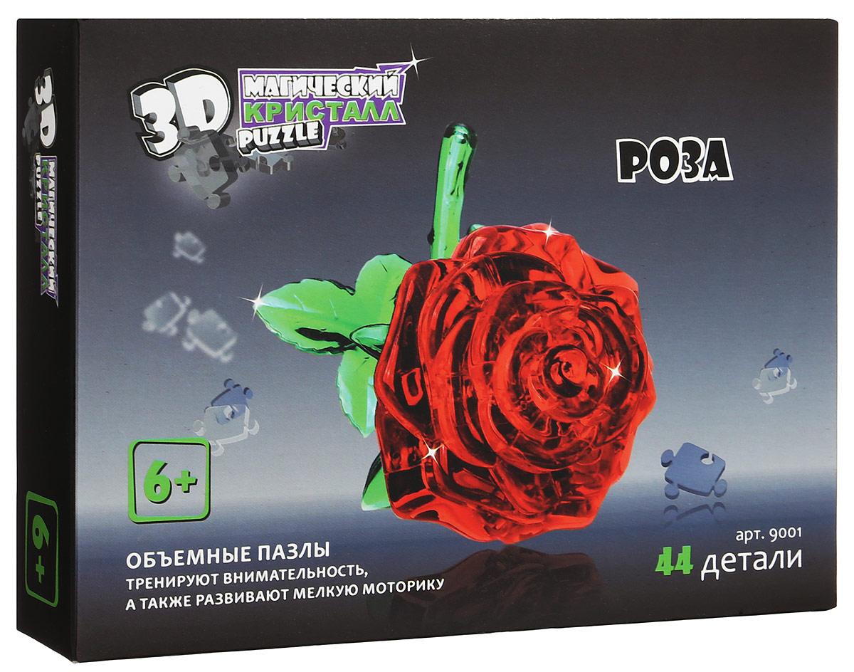 3D Puzzle Магический Кристалл Пазл Роза цвет синий