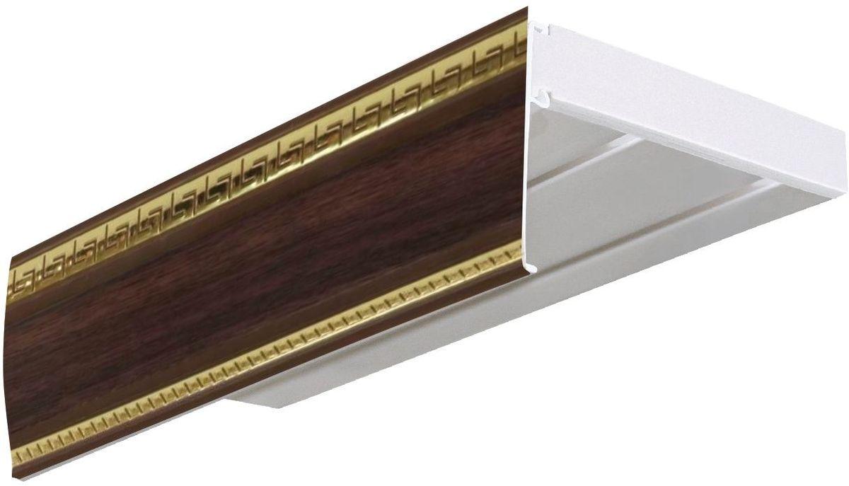 Бленда для шинного карниза Эскар Антик, цвет: темный ясень, ширина 7 см, длина 300 см29600300Бленда для шинного карниза Эскар Антик - это аксессуар, который дополняет карниз и делает его более эстетичным. За лентой скрываются крючки, кольца и другие элементы крепежа. Изделие изготавливается из пластика, устойчивого к механическим нагрузкам и соответствующего всем экологическим нормам. Оно хорошо гнется, что позволяет сделать карниз с закругленными углами. Такое оформление придает интерьеру благородства и богатства.