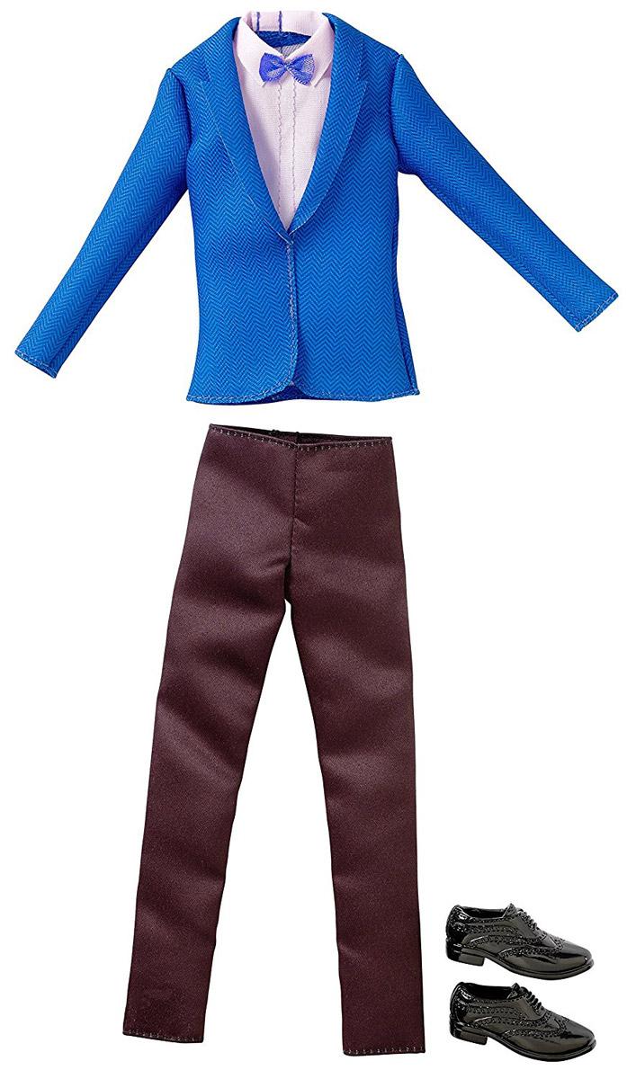 Barbie Одежда для Кена Пиджак и брюки цвет синий черный розовый цена в Москве и Питере