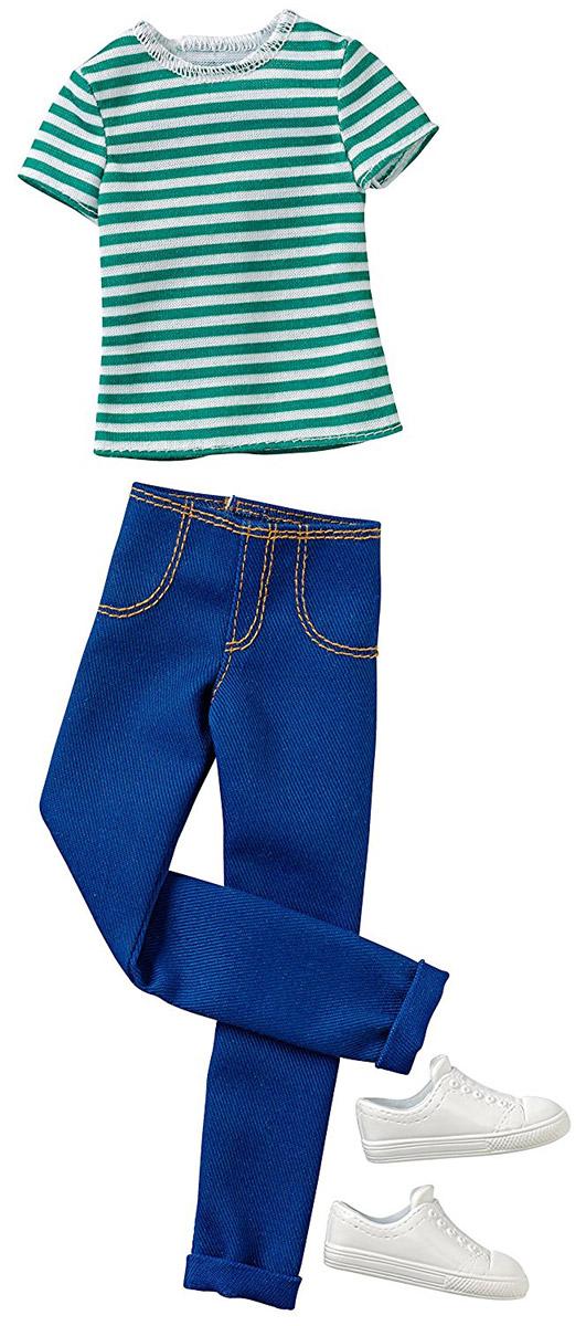 Barbie Одежда для Кена Футболка и брюки цвет зеленый синий цена в Москве и Питере